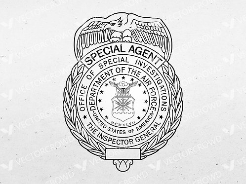 US Air Force Special Agent Badge | VectorCrowd