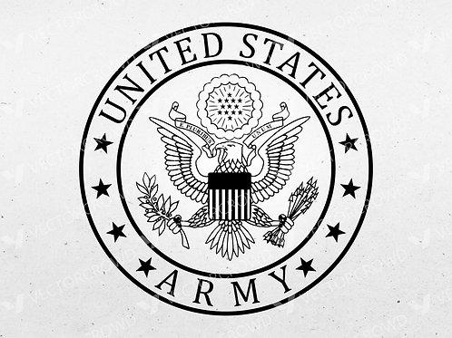 U.S. Army Eagle Logo | SVG Cut File