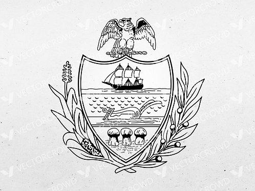 Seal of Allegheny County Pennsylvania | Vector Image