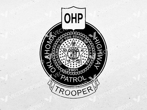Oklahoma OHP Highway Patrol Logo | SVG Cut File