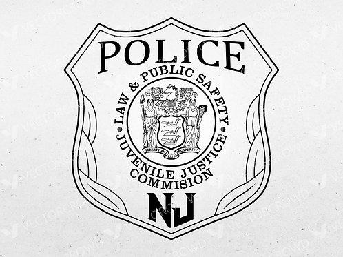 New Jersey Juvenile Justice Commission (JJC) Police Emblem | SVG Cut File