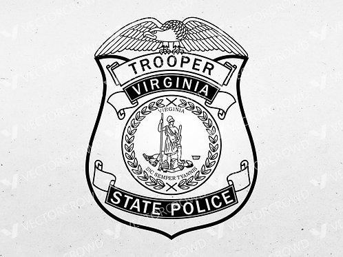 Virginia State Police Trooper Badge | Vector Image