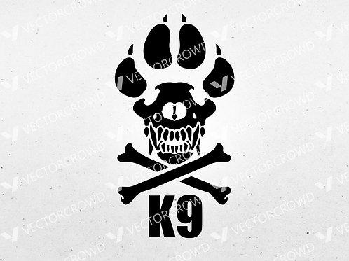 K9 Police Dog K-9 Law Enforcement | SVG Cut File