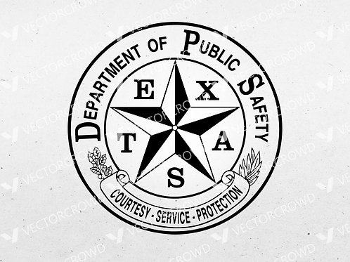 Texas Department of Public Safety DPS Logo | SVG Cut File