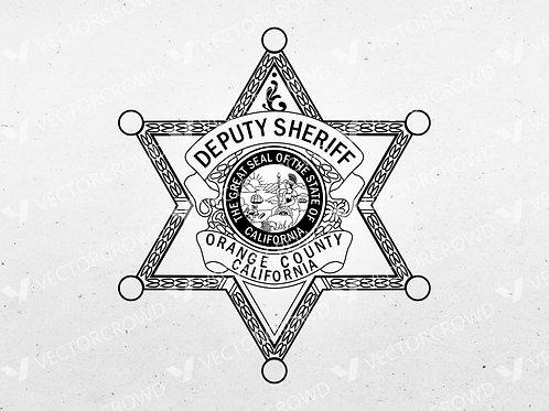 Orange County CA Sheriff's Department Badge | Vector Images | VectorCrowd