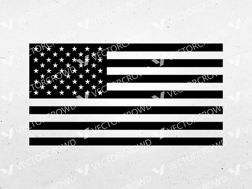 American Flag Digital Vector | SVG Cut File