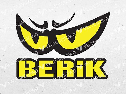 BERIK Motorcycle Gear Brand Logo | SVG Cut