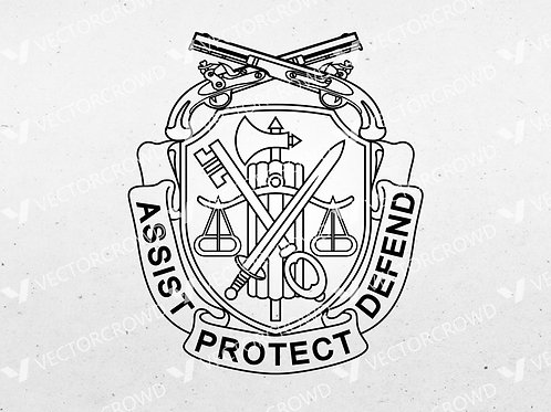 Army Military Police Corps Logo  | SVG Cut File