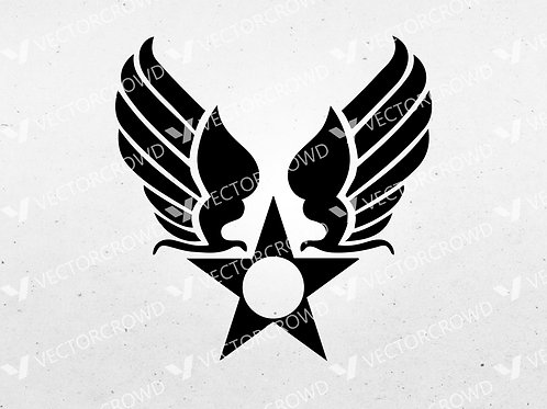 US Army Air Corps Hap Arnold Wings | SVG Cut File