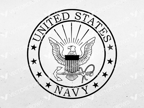 U.S. Navy Eagle Logo   SVG Vector Image