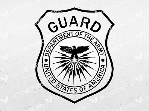 Department of Army Guard Patch | Vector Image | VectorCrowd
