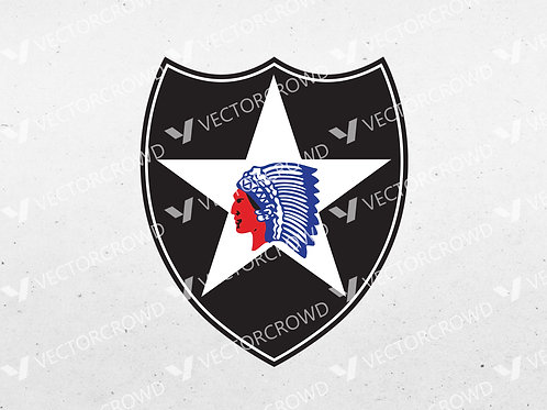 US Army 2nd Infantry Division Logo | SVG Cut File