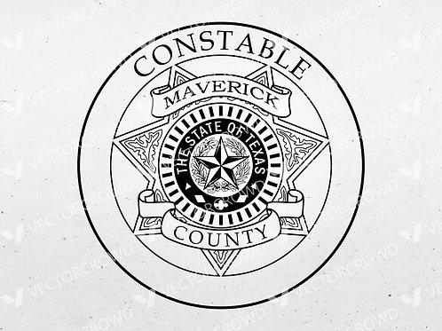 Maverick County Texas Constable Badge   VectorCrowd