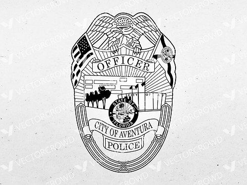 Aventura Florida Police Officer Badge | VectorCrowd