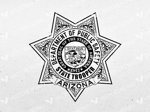 Arizona Highway Patrol Trooper Seal | SVG Cut File