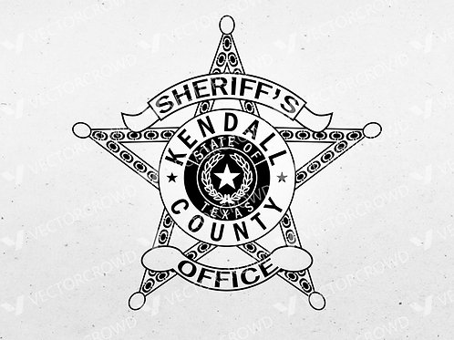 Kendall County Texas Sheriff's Office Badge | Vector Image