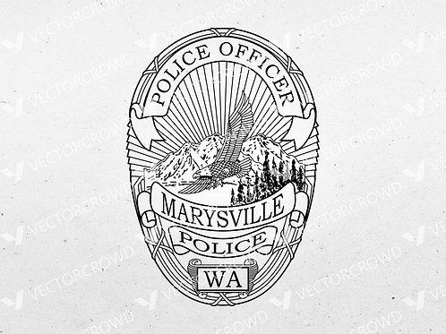 Marysville WA Police Department Badge   SVG Vector Image