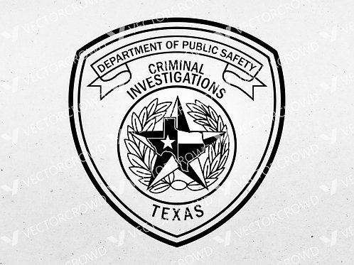 Texas DPS Criminal Investigations Patch | Vector Images