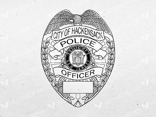 Hackensack New Jersey Police Department Badge | SVG Vector Image