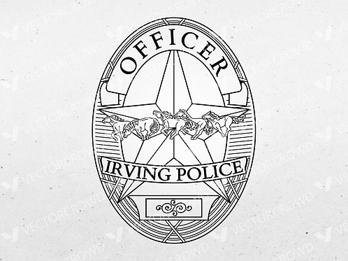 Irving Texas Police Officer Badge | VectorCrowd