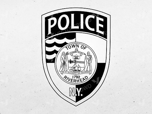 Riverhead New York Police Department Logo | Vector Image