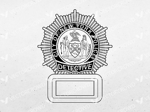 NYPD Police Department Detective Badge | SVG Vector Image