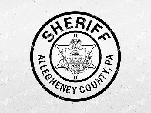 Allegheny County Pennsylvania Sheriff Department Logo   Vector Image