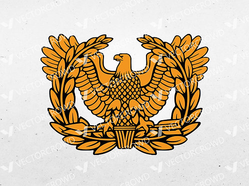US Army Warrant Officer Eagle Rating Badge | SVG Cut File