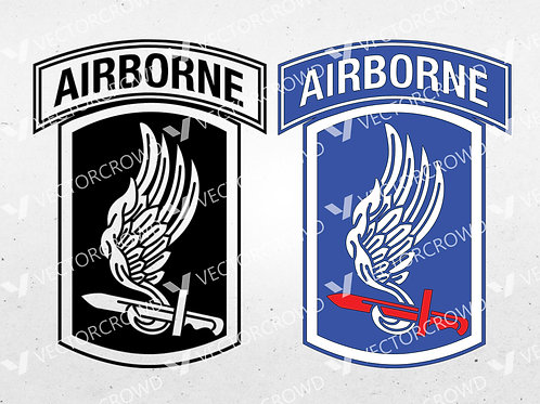 173rd Airborne Brigade Combat Team Army Infantry Logo | SVG Cut File