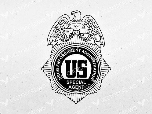DEA Drug Enforcement Administration Special Agent Badge | SVG Cut File