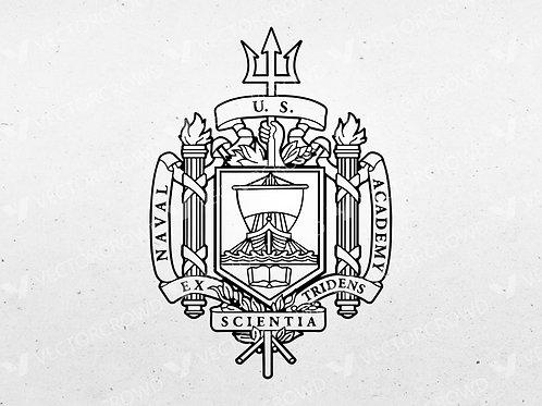 US Naval Academy Logo | Vector Image | VectorCrowd