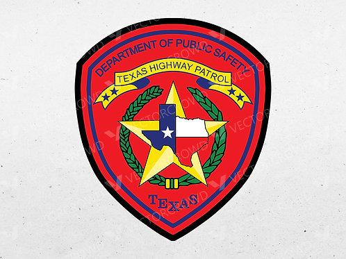 Texas DPS Highway Patrol Logo Layered | Vector Images