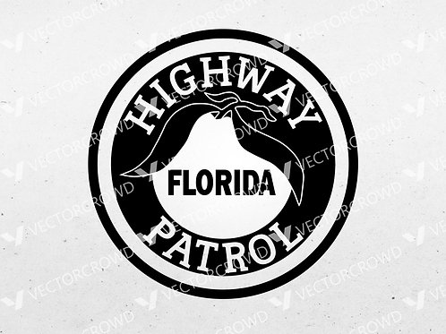 Florida Highway Patrol Logo | SVG Cut File
