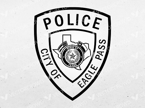 Eagle Pass Texas Police Department Patch | Vector Images | VectorCrowd