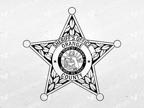 Orange County Florida Sheriff Department Badge | VectorCrowd