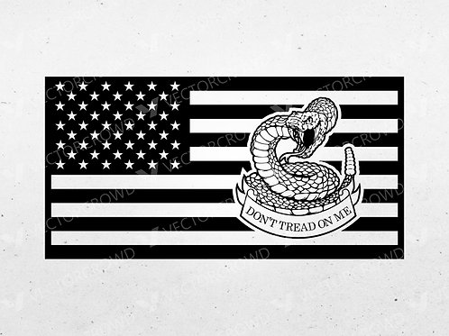 Don't Tread On Me Flag | VectorCrowd