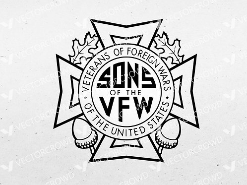 Sons of the Veterans of Foreign Wars VFW Logo | SVG Cut File