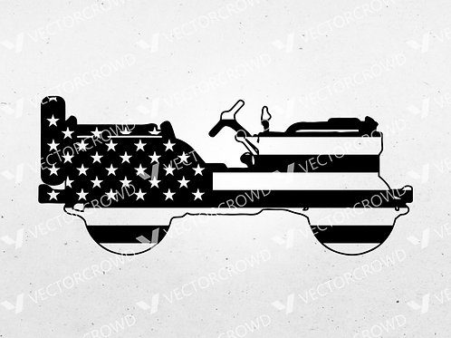 Jeep Willys Truck US Army WWII Silhouette | SVG Cut File