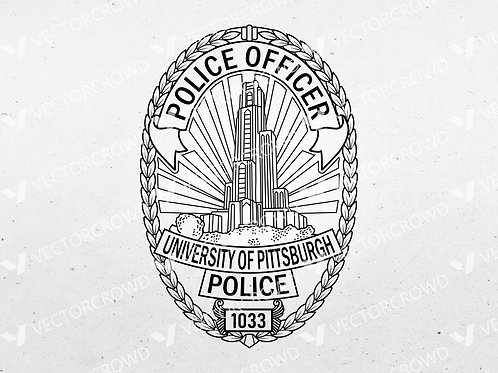 University of Pittsburg PA Police Officer Badge | VectorCrowd