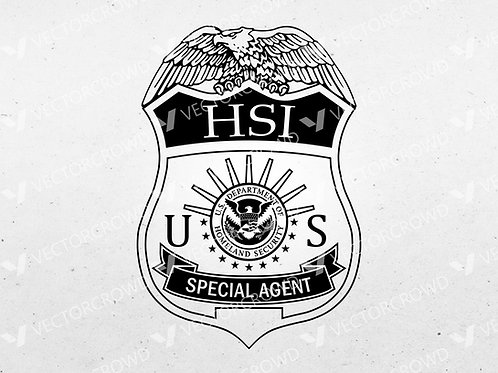 Homeland Security Investigations Badge | Vector Images | VectorCrowd