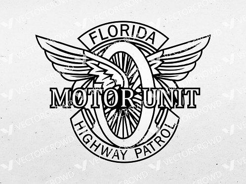 Florida State Patrol Motor Unit Logo | SVG Cut File