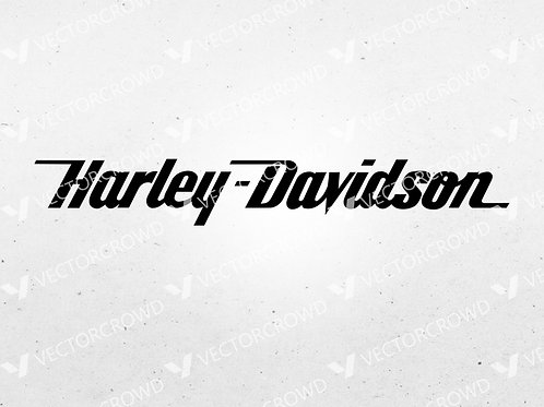Harley Davidson Motorcycle Text  | SVG Cut