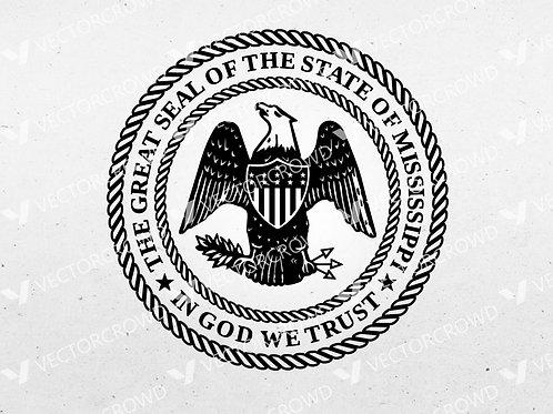 State of Mississippi Seal | SVG Cut