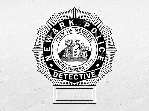 Newark New Jersey Police Detective Badge | SVG Cut File