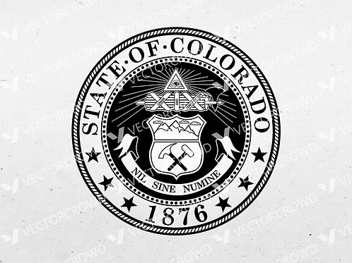 Colorado State Seal Logo | SVG Cut File