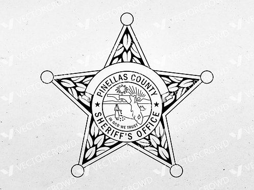 Pinellas County Florida Sheriff Department Badge   VectorCrowd