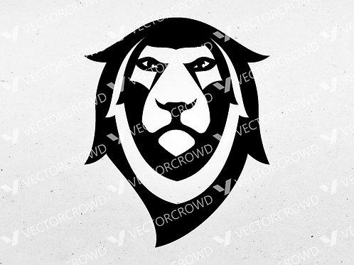 Lion Head Face Silhouette | Vector Image | VectorCrowd