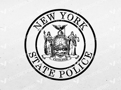 New York State Police Trooper Department Seal | SVG Cut File