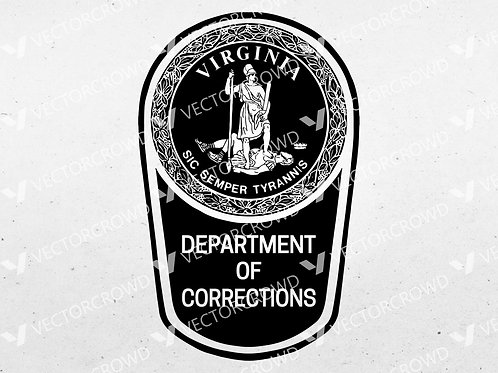 Virginia Department of Corrections Logo | SVG Cut File