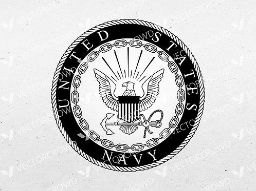 United States Navy Seal Eagle Anchor Crest Logo | SVG Cut File